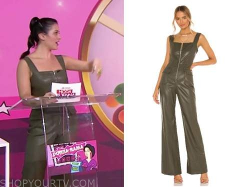 donna farizan, the today show, green leather jumpsuit