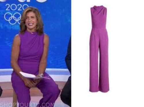 hoda kotb, the today show, purple jumpsuit