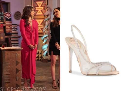 katie thurston, embellished sandals, the bachelorette