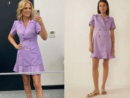 good morning britain, purple blazer dress, charlotte hawkins