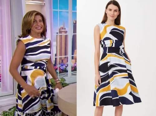 hoda kotb, the today show, abstract print dress