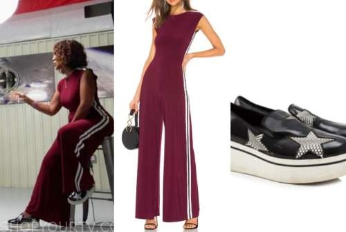 gayle king, cbs this morning, jumpsuit, star sneakers