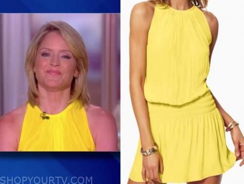 sara haines, the view, yellow dress