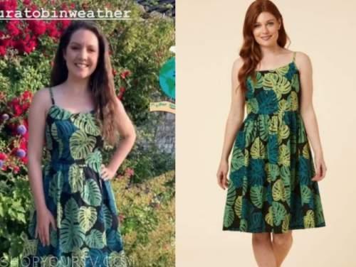 laura tobin, green leaf dress, good morning britain