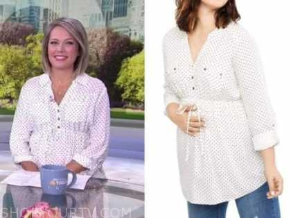 the today show, dylan dreyer, polka dot maternity top