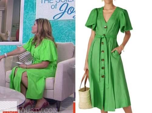 jenna bush hager, the today show, green midi dress