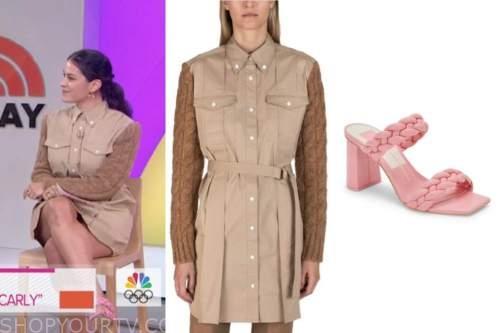 the today show, mixed media print shirt dress, pink heels , donna farizan