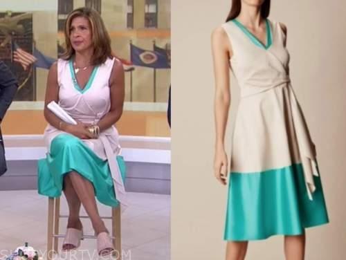 hoda kotb, the today show, contrast hem dress