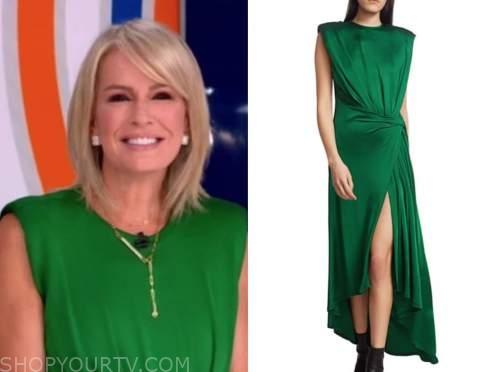 dr. jennifer ashton, good morning america, green dress