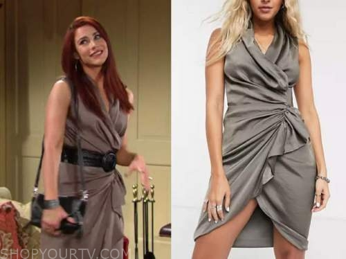 sally spectra, courtney hope, the young and the restless, wrap ruffle dress