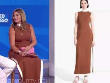 jenna bush hager, the today show, brown midi dress