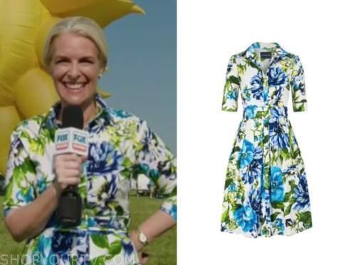 janice dean, fox and friends, floral shirt dress