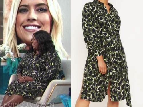loni love, E! news, daily pop, camo shirt dress