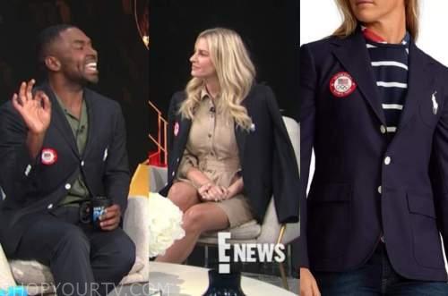 justin sylvester, morgan stewart, navy olympics blazer, e! news, daily pop