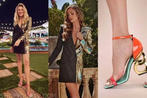 arielle vandenberg, love island usa, blazer dress, chain link heels