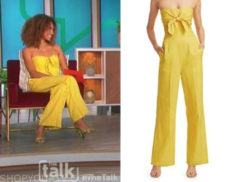 elaine welteroth, the talk, yellow jumpsuit