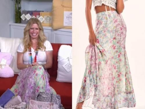 jill martin, the today show, floral maxi skirt