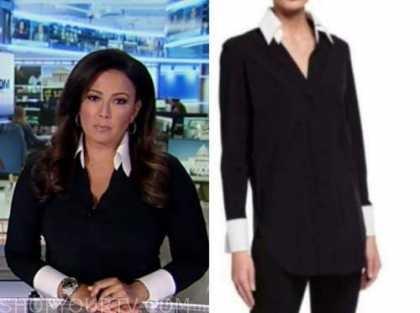 julie banderas, america's newsroom, black and white shirt