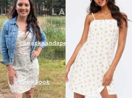good morning britain, laura tobin, lemon print dress