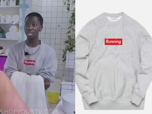 love island usa, running sweatshirt, cashay proudfoot