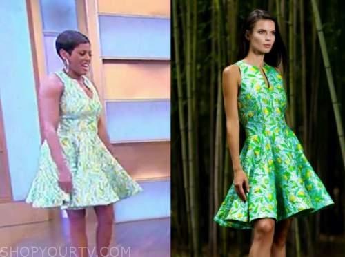tamron hall, tamron hall show, lemon print flare dress