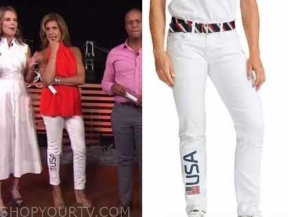hoda kotb, the today show, white team usa jeans