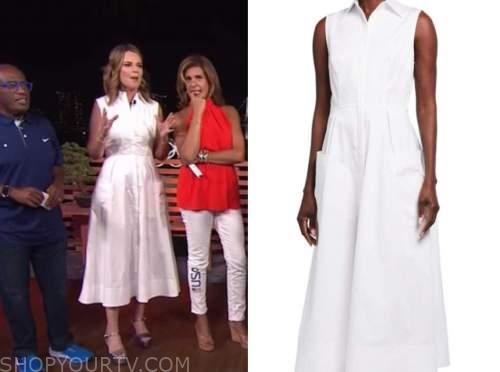 savannah guthrie, the today show, white midi shirt dress