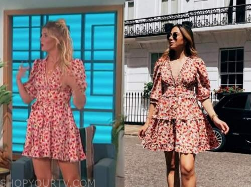 amanda kloots, the talk, floral dress