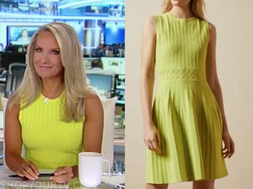 america's newsroom, dana perino, yellow knit dress