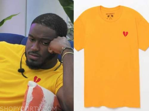 love island usa, yellow broken heart t-shirt, cinco