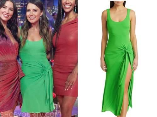 katie thurston, men tell all, bachelorette, green dress