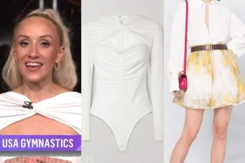 nastia liukin, the today show, white cutout top, skirt