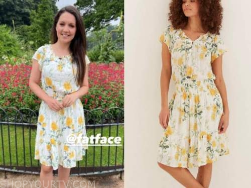 laura tobin, good morning britain, floral dress