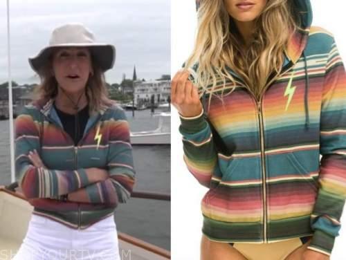 good morning america, lara spencer, striped hoodie