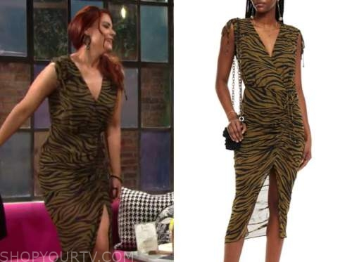 sally spectra, courtney hope, the young and the restless, zebra dress