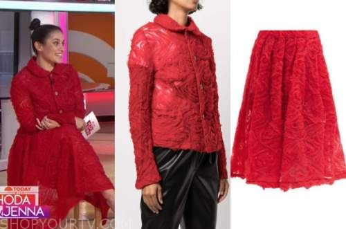 donna farizan, the today show, red jacket and skirt