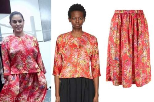 donna farizan, the today show, red floral top and skirt