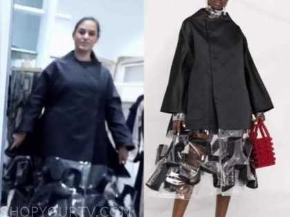 donna farizan, the today show, black clear midi coat