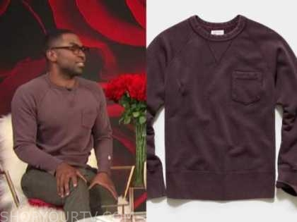 justin sylvester, E! news, daily pop, purple faded sweater