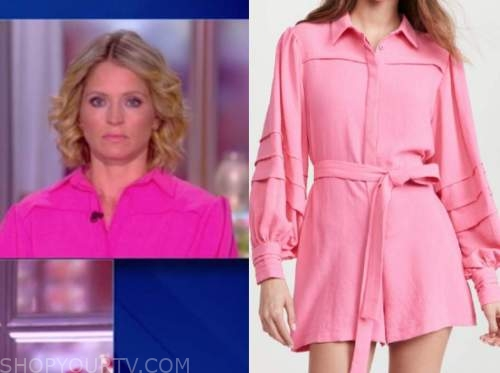 sara haines, the view, pink romper