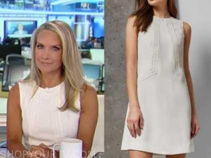america's newsroom, white shift dress, dana perino