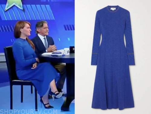 dagen mcdowell, the five, blue knit midi dress