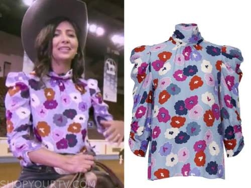 zohreen shah, good morning america, floral blouse