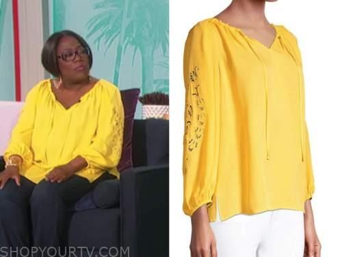 sheryl underwood, yellow blouse, the talk