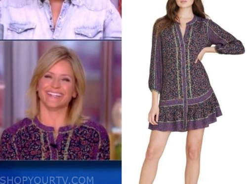 sara haines, the view, purple floral dress