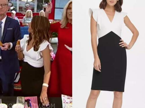 rachel campos duffy, fox and friends, black and white dress