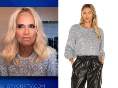 Kristin chenoweth, the view, silver mohair sweater