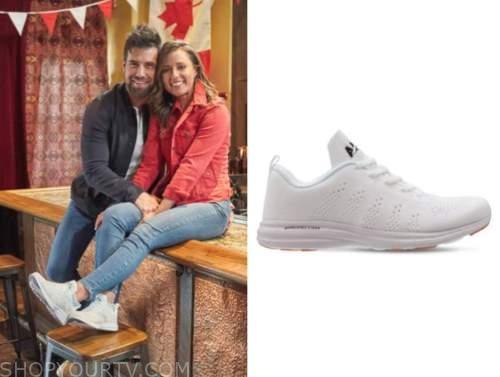 Katie Thurston, the bachelorette, white mesh sneakers