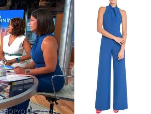 dana jacobson, cbs this morning, blue jumpsuit