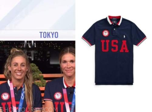Team USA volleyball polo shirts, the today show